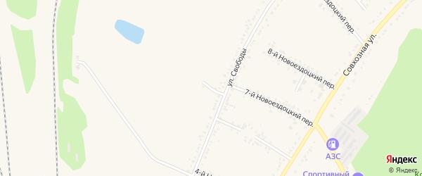 3-й Новоездоцкий переулок на карте Валуек с номерами домов