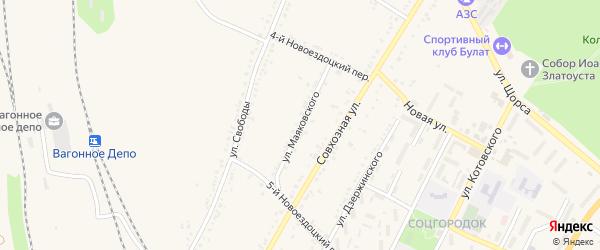 Улица Маяковского на карте Валуек с номерами домов