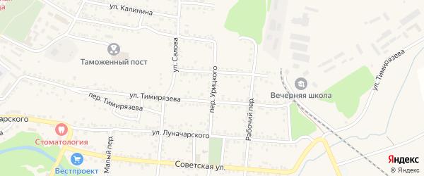 Переулок Урицкого на карте Валуек с номерами домов