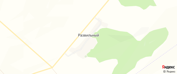 Карта Развильного хутора в Белгородской области с улицами и номерами домов
