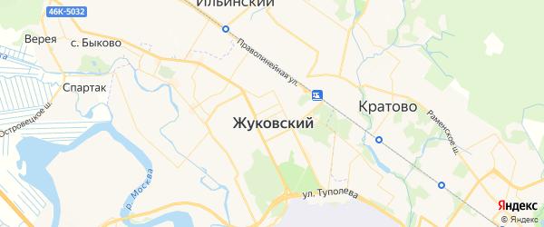 Карта Жуковского с районами, улицами и номерами домов