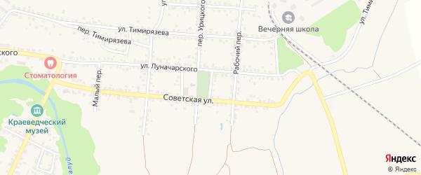 Площадь Урицкого на карте Валуек с номерами домов