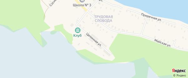 Целинная улица на карте Онеги с номерами домов