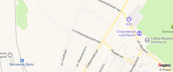 4-й Новоездоцкий переулок на карте Валуек с номерами домов