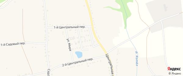Придорожная улица на карте села Дмитриевки с номерами домов