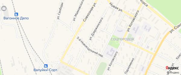 Улица Дзержинского на карте Валуек с номерами домов
