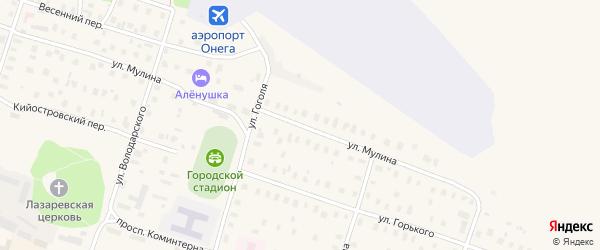 Улица Мулина на карте Онеги с номерами домов