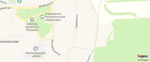 Садовая улица на карте Архангельского села с номерами домов
