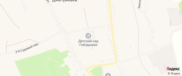 Весенняя улица на карте села Дмитриевки с номерами домов