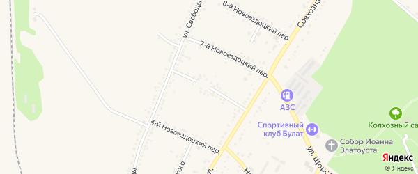 6-й Новоездоцкий переулок на карте Валуек с номерами домов