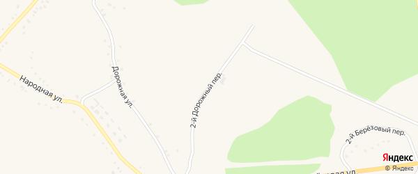 2-й Дорожный переулок на карте Солдатского села с номерами домов