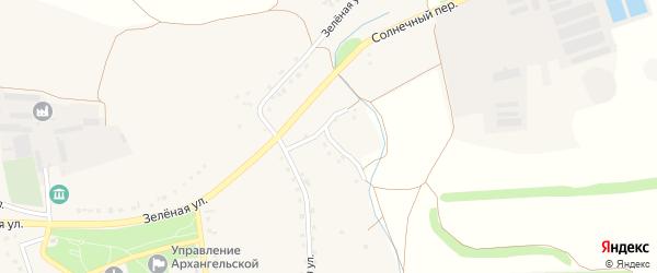 Солнечный переулок на карте Архангельского села с номерами домов
