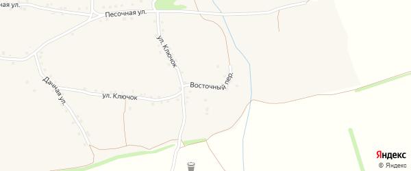 Восточный переулок на карте Архангельского села с номерами домов
