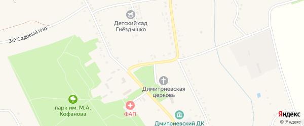 3-й Центральный переулок на карте села Дмитриевки с номерами домов