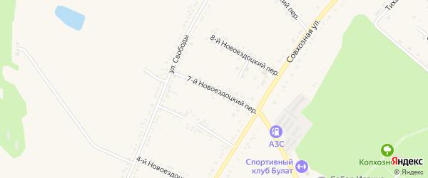7-й Новоездоцкий переулок на карте Валуек с номерами домов