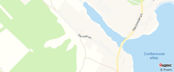 Лесная улица на карте Тернового села с номерами домов