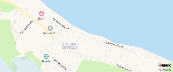 Приречная улица на карте Онеги с номерами домов