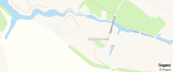 Задонская улица на карте Солдатского села с номерами домов
