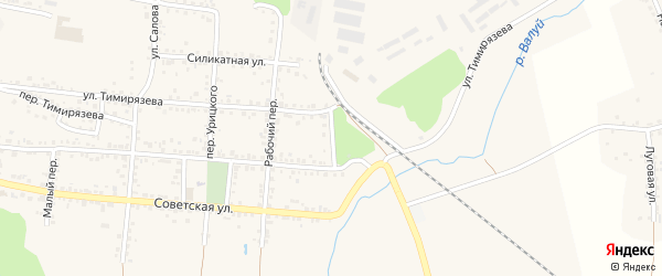Речной переулок на карте Валуек с номерами домов