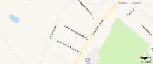 8-й Новоездоцкий переулок на карте Валуек с номерами домов