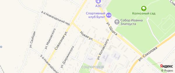 Новая улица на карте Валуек с номерами домов