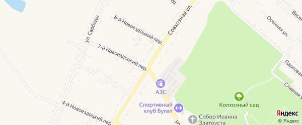Совхозная улица на карте Валуек с номерами домов