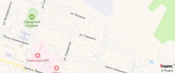 Улица Горького на карте Онеги с номерами домов