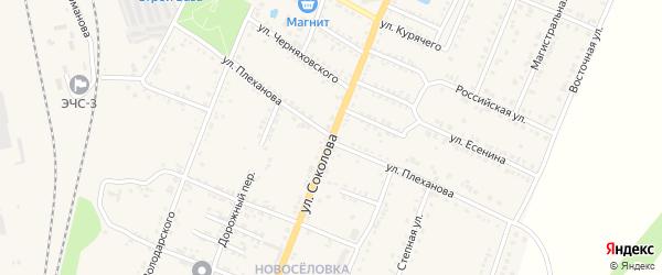 Улица Плеханова на карте Валуек с номерами домов