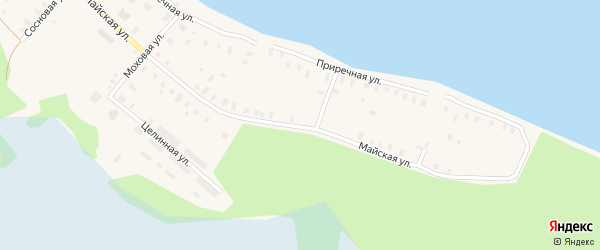 Майская улица на карте Онеги с номерами домов