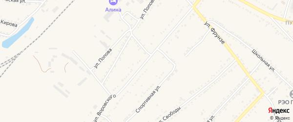 Улица Воровского на карте Валуек с номерами домов