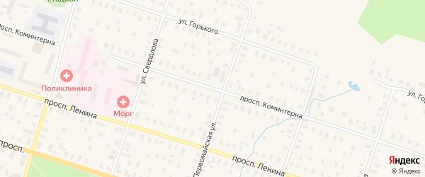 Улица Коминтерна на карте Онеги с номерами домов