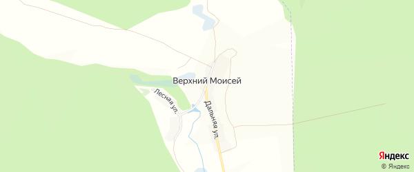 Карта села Верхнего Моисея в Белгородской области с улицами и номерами домов