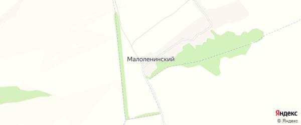 Карта Малоленинского поселка в Белгородской области с улицами и номерами домов