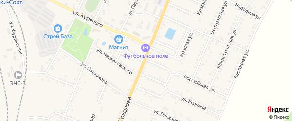Улица Лермонтова на карте Валуек с номерами домов