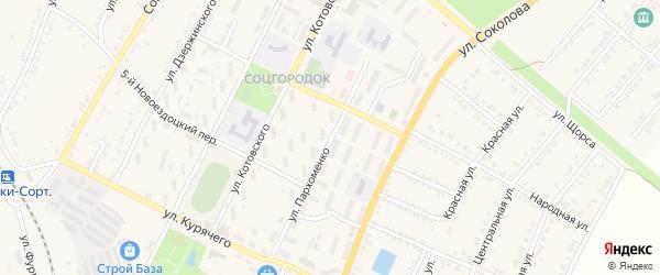 Улица Пархоменко на карте Валуек с номерами домов