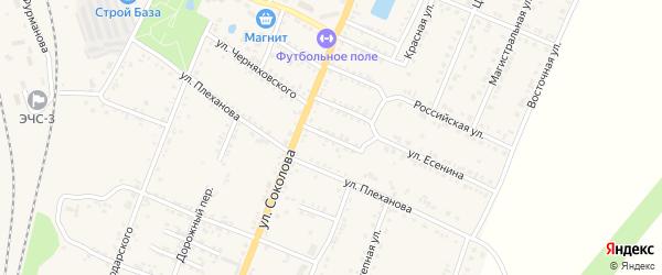 Терешковой переулок на карте Валуек с номерами домов
