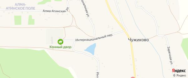 Интернациональный переулок на карте села Чужиково с номерами домов