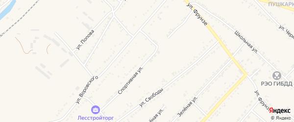 Спортивная улица на карте Валуек с номерами домов