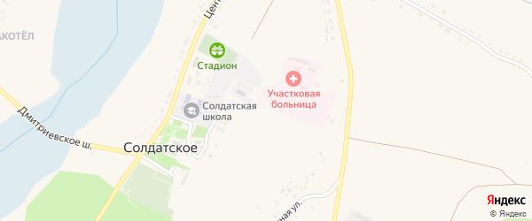 Центральный переулок на карте Солдатского села с номерами домов