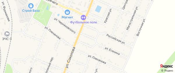 Улица Черняховского на карте Валуек с номерами домов