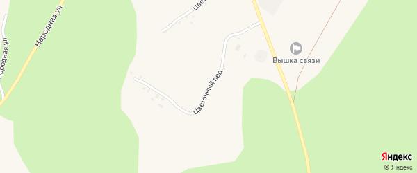 Цветочный переулок на карте Солдатского села с номерами домов