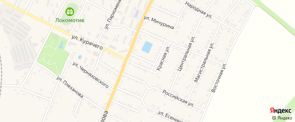 Полевой переулок на карте Валуек с номерами домов