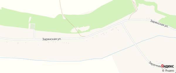 Зарянская улица на карте Веселого села с номерами домов