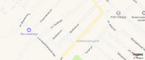 Зеленая улица на карте Валуек с номерами домов