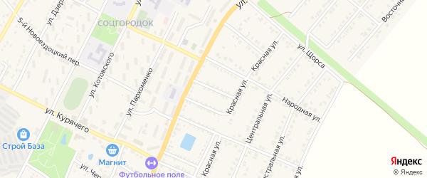 Улица Верхоламова на карте Валуек с номерами домов