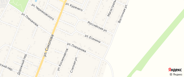 Улица Есенина на карте Валуек с номерами домов