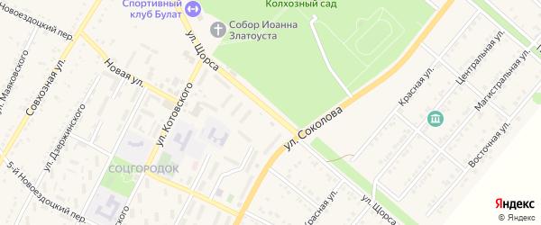 Улица Щорса на карте Валуек с номерами домов
