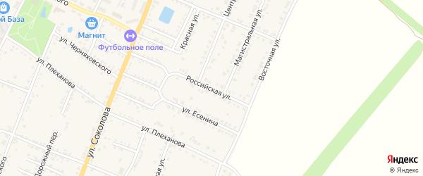 Российская улица на карте Валуек с номерами домов