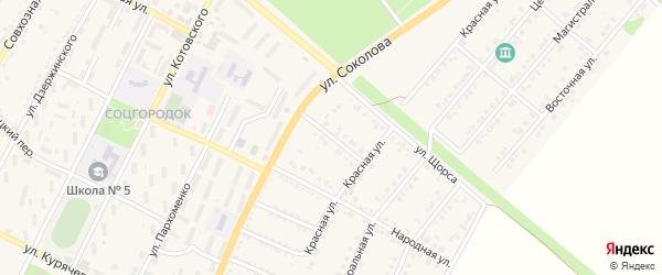 Торговая улица на карте Валуек с номерами домов