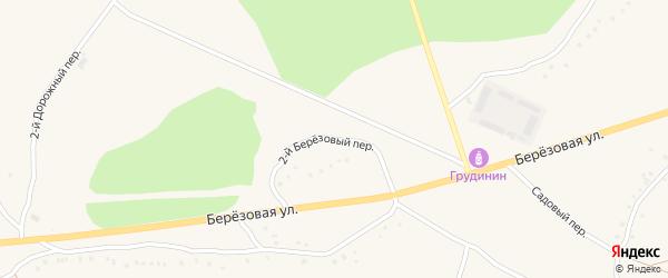 2-й Березовый переулок на карте Солдатского села с номерами домов